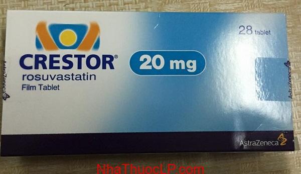 Thuoc Crestor 5mg 10mg 20mg Rosuvastatin NhaThuocLP tphcm Hanoi (3)