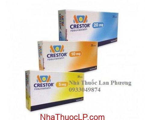 Thuốc Crestor 5mg 10mg 20mg Rosuvastatin kiểm soát Cholesterol và chất béo