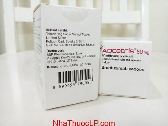Thuốc Adcetris 50mg Brentuximab điều trị ung thư hạch (3)