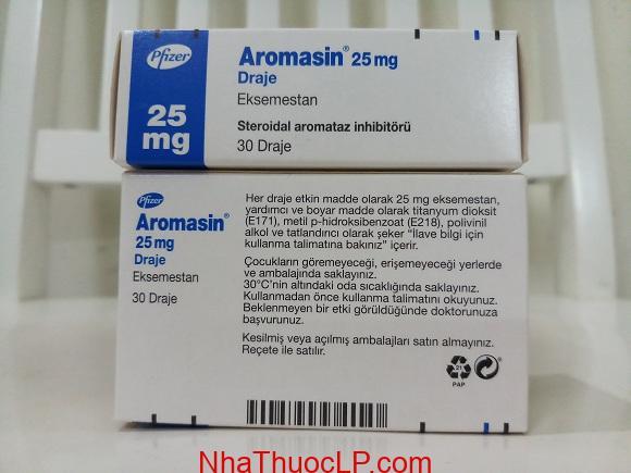 Thuốc Aromasin 25mg Exemestane điều trị ung thư vú (3)