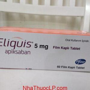 Thuốc Eliquis 5mg Apixaban ngăn ngừa huyết khối tĩnh mạch sâu và đột quỵ (1)