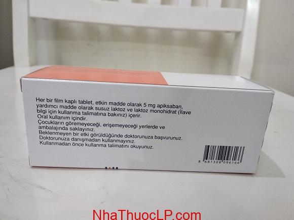 Thuốc Eliquis 5mg Apixaban ngăn ngừa huyết khối tĩnh mạch sâu và đột quỵ (5)