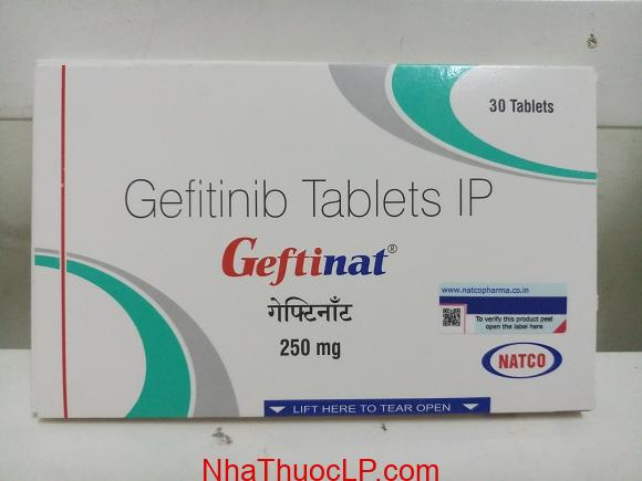 Thuốc Geftinat 250mg Gefitinib điều trị ung thư phổi (1)