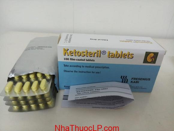 Thuốc Ketosteril 600mg Methionine điều trị bệnh thận mãn tính 1