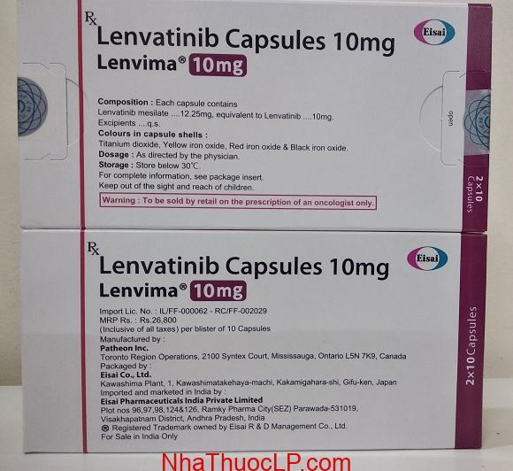 Thuốc Lenvima 10mg Lenvatinib điều trị ung thư gan, tuyến giáp (3)