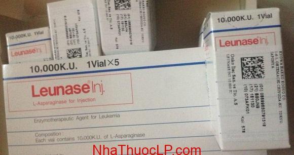 Thuốc Leunase 10.000 KU L-asparaginase bệnh bạch cầu cấp (5)