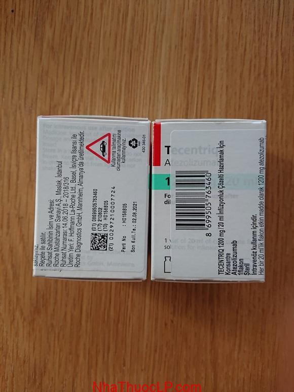 Thuốc Tecentriq 1200mg/20ml Atezolizumab điều trị ung thư biểu mô tiết niệu, ung thư phổi (NSCLC) (5)