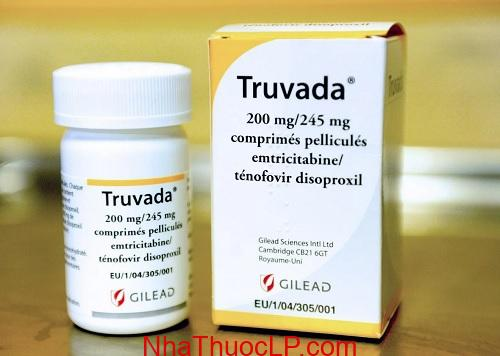 Thuoc Truvada, Emtricitabine 200mg Tenofovir 245mg