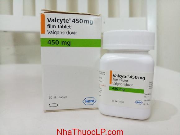 Thuốc Valcyte 450mg Valganciclovir điều trị viêm võng mạc (CMV) (1)