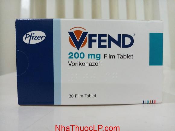 Thuốc Vfend 200 mg Voriconazole điều trị nhiễm trùng do nấm (1)
