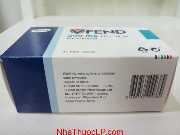 Thuốc Vfend 200 mg Voriconazole điều trị nhiễm trùng do nấm (2)