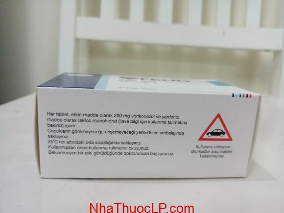 Thuốc Vfend 200 mg Voriconazole điều trị nhiễm trùng do nấm (3)