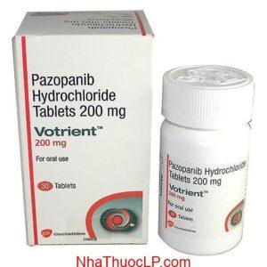 Thuốc Votrient 400mg Pazopanib điều trị ung thư thận (2)