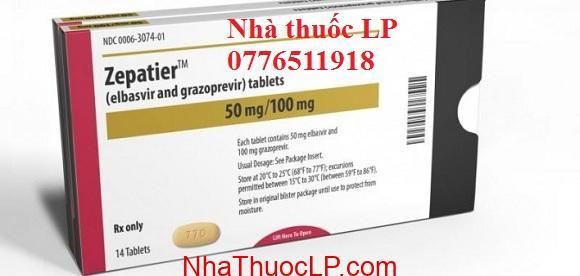 Thuốc Zepatier 50mg/100mg Elbasvir và grazoprevir điều trị Viêm Gan C (1)