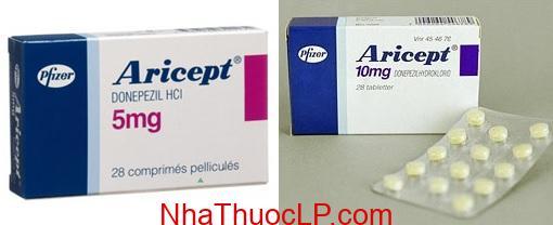 Thuoc Aricept 5mg 10mg Donepezil dieu tri chung mat tri do benh Alzheimer