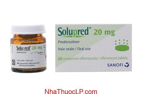 Thuốc Solupred 20mg Prednisone điều trị viêm khớp, viêm da hay dị ứng (1)