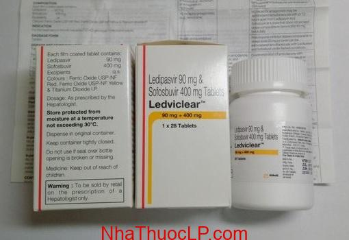 Thuoc Ledviclear 90mg 400mg Ledipasvir Sofosbuvir dieu tri viem gan C (2)