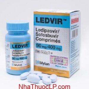 Thuoc Ledvir 90mg 400mg Ledipasvir Sofosbuvir dieu tri viem gan C (1)