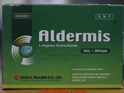 Thuoc Aldermis 1000mg5ml L Arginin Hydrochloride dieu tri roi loan kho tieu (3)