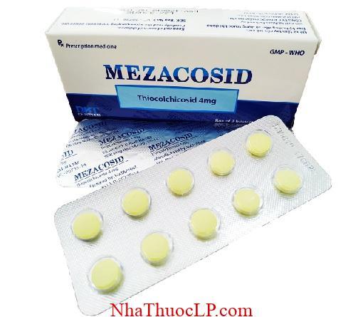 Thuoc Mezacosid 4mg Thiocolchicoside chong viem va giam dau (1)