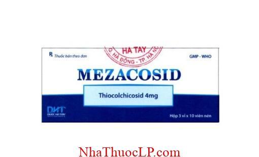 Thuoc Mezacosid 4mg Thiocolchicoside chong viem va giam dau (2)