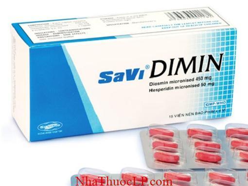 Thuoc SaviDimin 500mg Diosmin & Hesperidin bao ve mach mau (3)