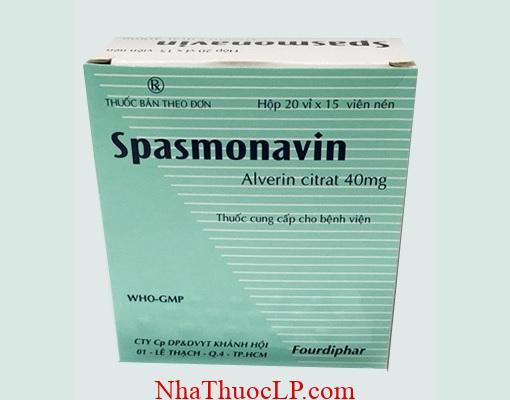 Thuoc Spasmaverine 40mg Alverine chong co that duong tieu hoa (2)