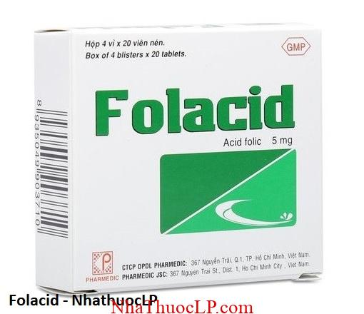 Thuoc Folacid dieu tri thieu mau 1