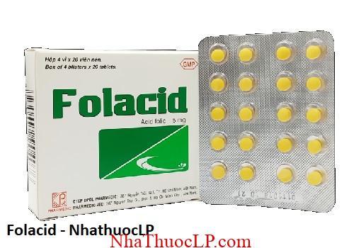 Thuoc Folacid dieu tri thieu mau