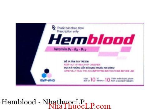 Thuoc Hemblood dieu tri thieu vitamin nhom B