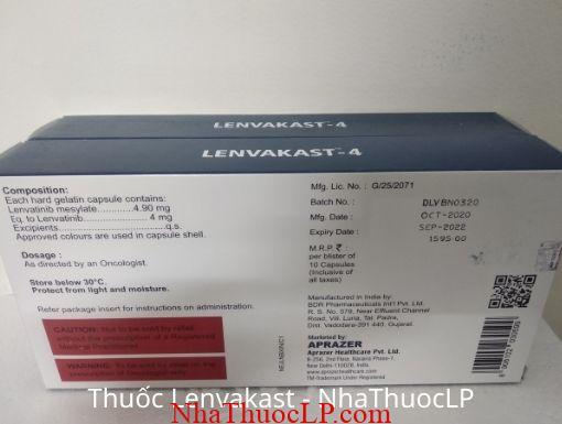 Tác dụng phụ của Lenvakast