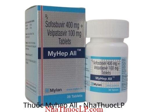 Thuoc Myhep All (Sofosbuvir + Velpatasvir) 1