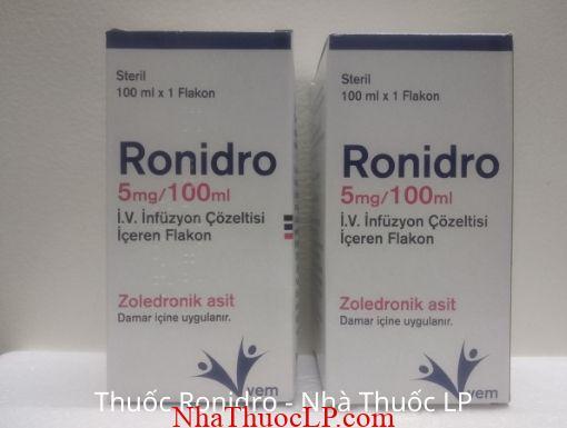Công dụng, Chỉ định Ronidro